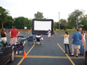 Big screen outdoor movie
