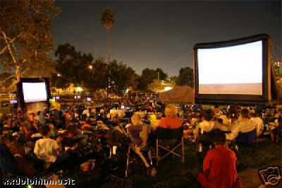 Event Planning, Big Screen outdoor movie